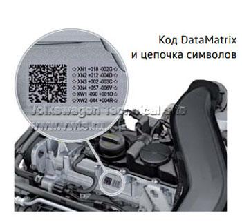 Код DataMatrix и цепочка символов