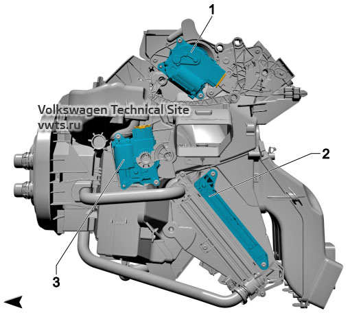Air conditioning system, KH6, VW Tiguan 2