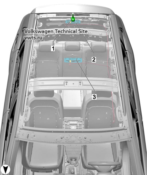 Roof, with no sliding/tilting sunroof VW Tiguan 2