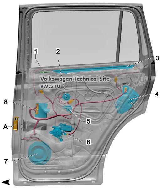 Rear right door VW Tiguan 2