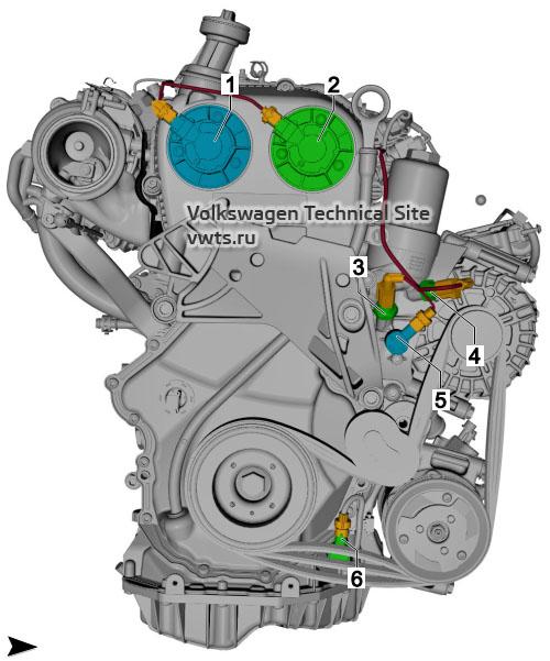 2.0l petrol engine, CHHB, CZPA, DKTA, DKZA, from front VW Tiguan 2