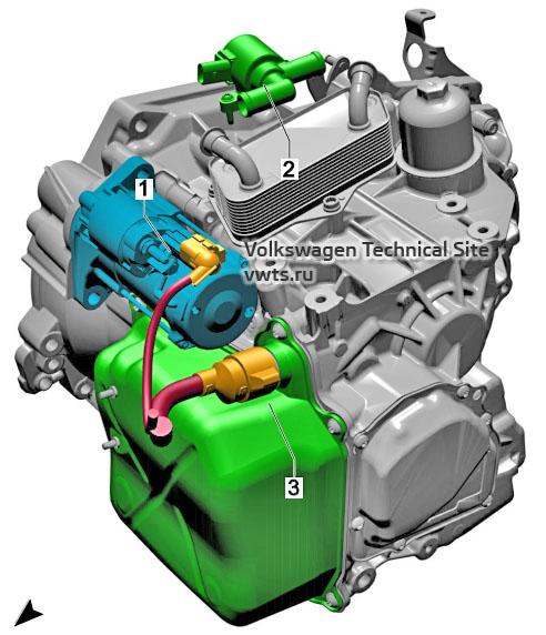 Dual clutch gearbox, 0D9 VW Tiguan 2