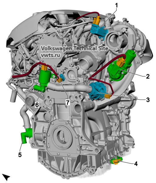 2.0l petrol engine, CHHB, from left VW Tiguan 2