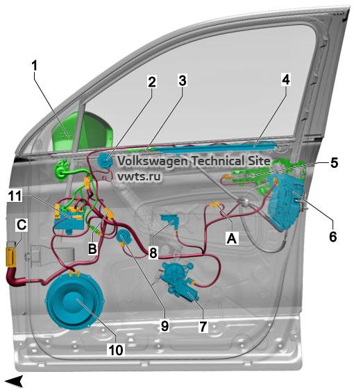 Front passenger door VW Tiguan 2