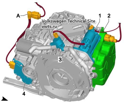Dual clutch gearbox, 0GC VW Tiguan 2