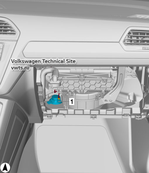 Loudspeaker for emergency call module VW Tiguan 2