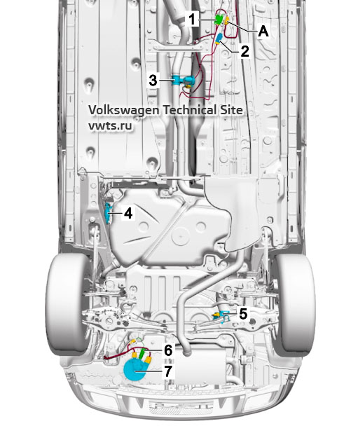 Underbody, for models with diesel engine VW Tiguan 2