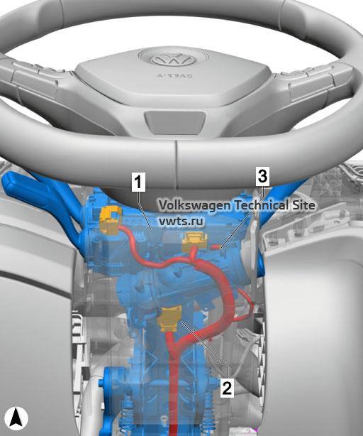 Steering column VW Tiguan 2