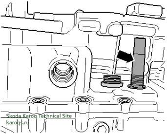 переливная трубка с шестигранным отверстием 8 мм коробки передач 0D9 (DSG)