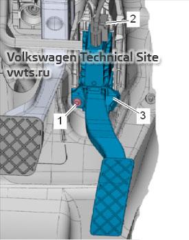 Датчик положения акселератора G79 и G185 дизельных двигателей 1,6 и 2,0 серии EA288