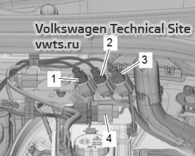 Обзор мест установки - электрические разъемы VW T-Roc, VW T-Cross
