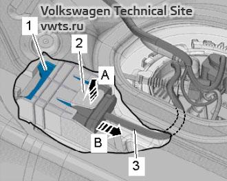 Fuel pump control unit J538 - engine 2,0 EA888 gen_III_BZ