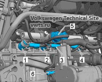 Injectors (combustion chamber) - engine 2,0 EA888 gen_III_BZ