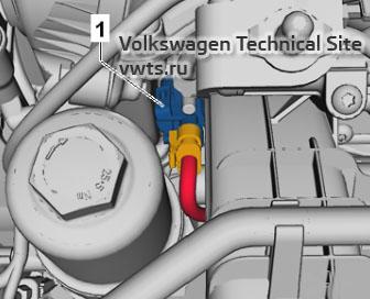 Intake manifold flap potentiometer G336 - engine 2,0 EA888 gen_III_BZ