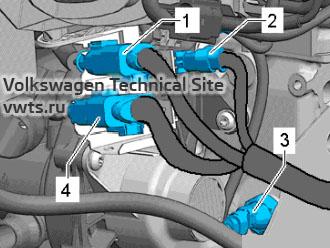 Electrical connectors - engine 2,0 EA888 gen_III_BZ