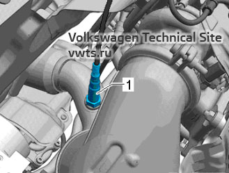 Lambda probe 1 after catalytic converter GX7 - engine 2,0 EA888 gen_III_BZ