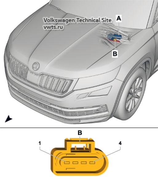 Wiper motor control unit -J400- Skoda Kodiaq (NS7)