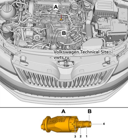 Combustion chamber pressure sensor for cylinder 3 -G679- Skoda Kodiaq (NS7)