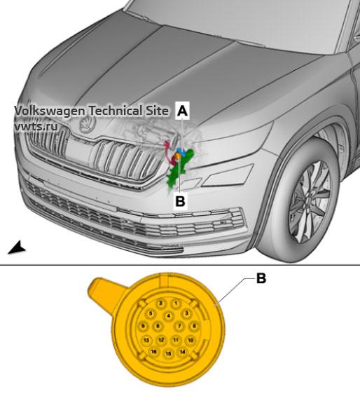 Double clutch gearbox mechatronics -J743- Skoda Kodiaq (NS7)