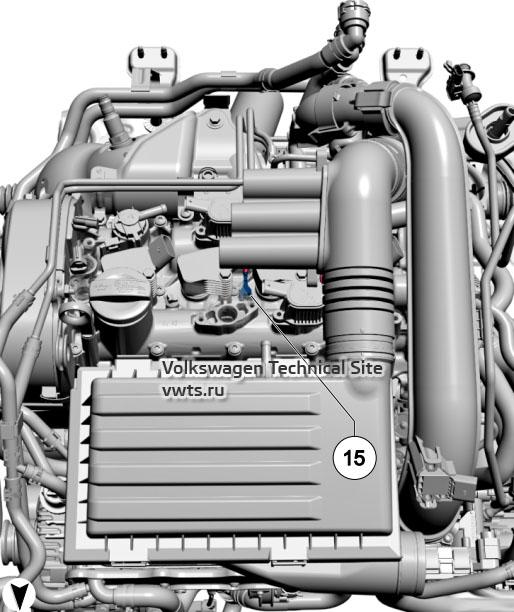 1.4l petrol engine, CZCA, CZDA, CZEA, DJVA VW Tiguan 2