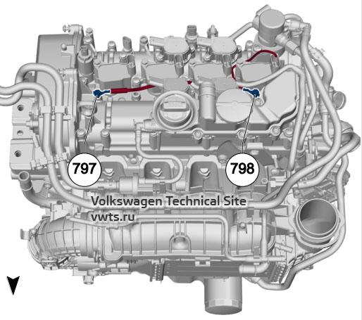 1.5l petrol engine, DACA, DACB, DADA VW Tiguan 2