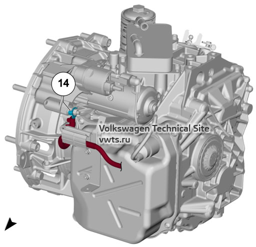 Dual clutch gearbox, 0D9, 0DL, 0GC VW Tiguan 2