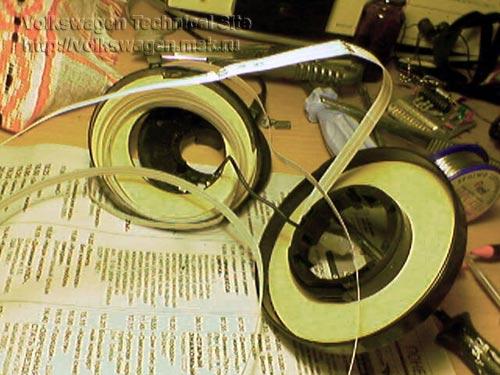 Ремонт спирали подушки безопасности аирбаг