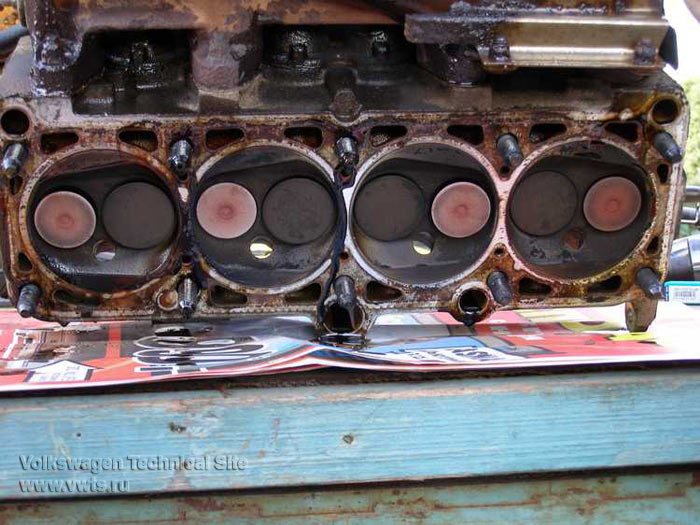 Ремонт головки блока цилиндров двигателя 2E