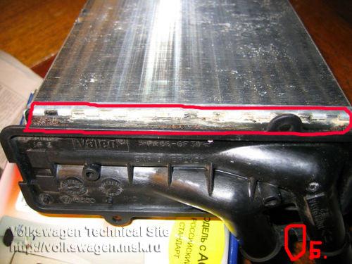 Замена радиатора печки Фольксваген Пассат Б4