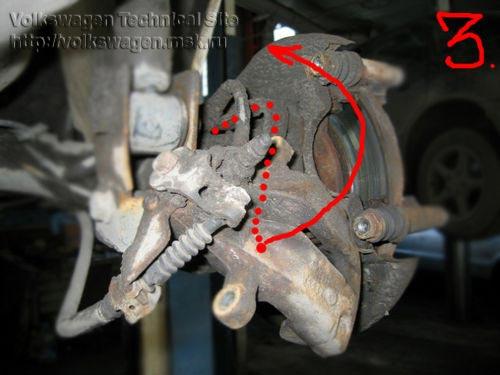 Замена задних тормозных дисков-ступиц Фольксваген Пассат Б4