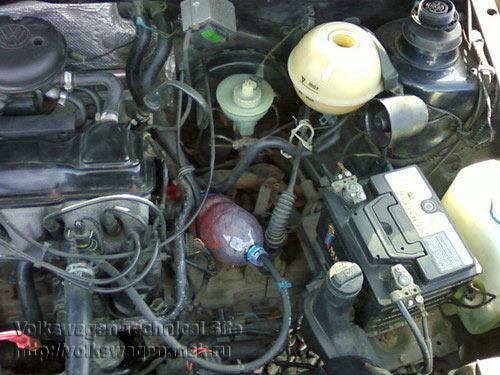 Фольксваген пассат б3 где находится термостат