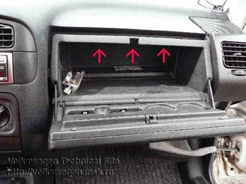volkswagen вента 1992г снятие торпеды