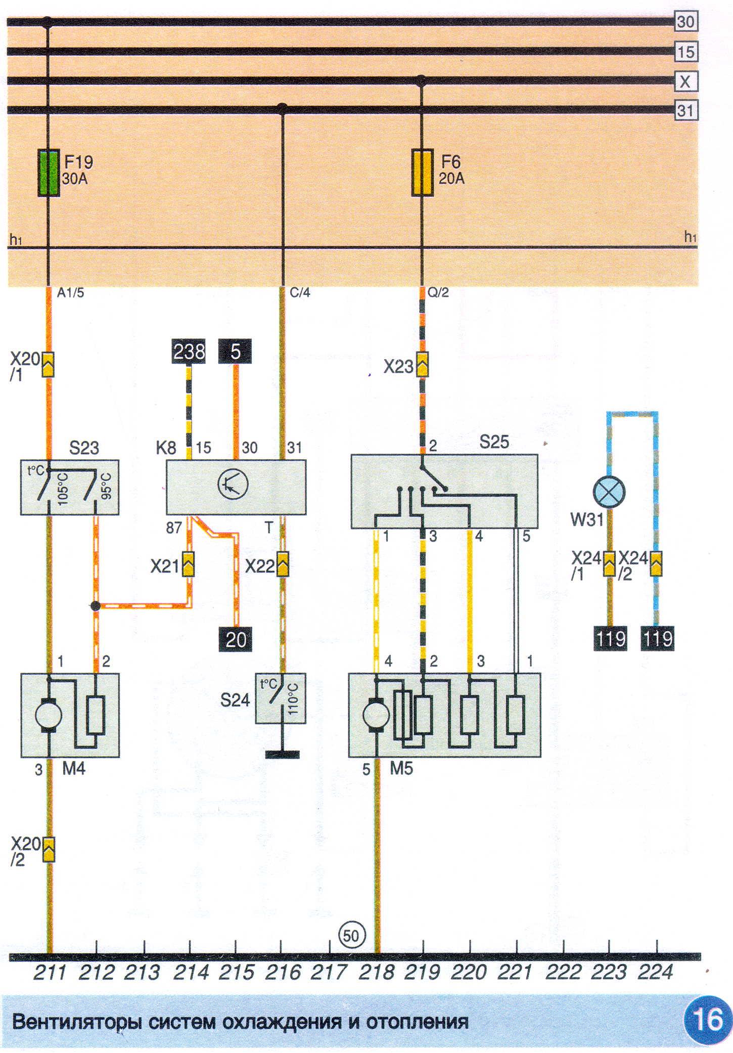 Схема электрооборудования пассат б3 409