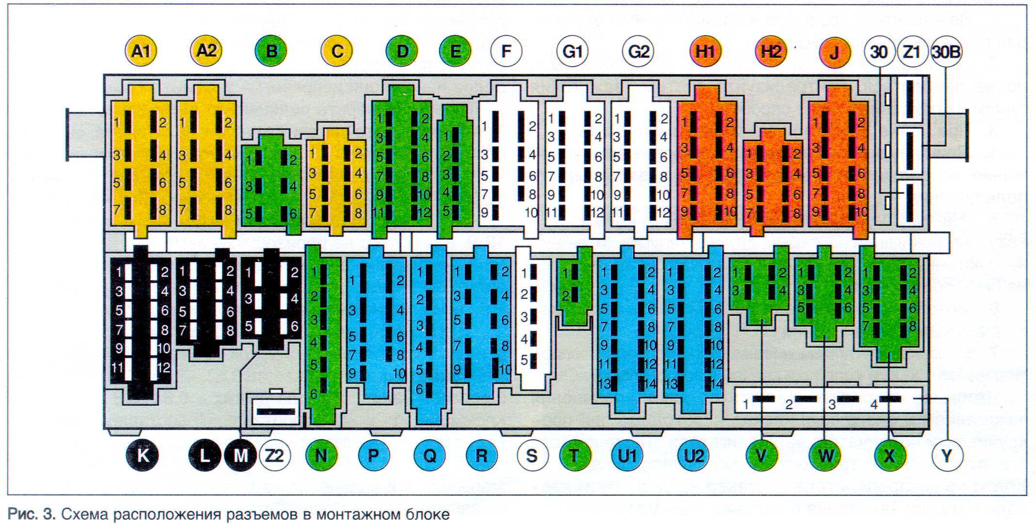 реле блок предохранителей ауди 80 б3 схема