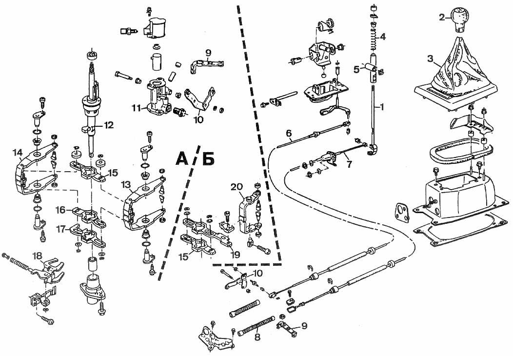 замена тросов переключения передач на фольксвагене в3