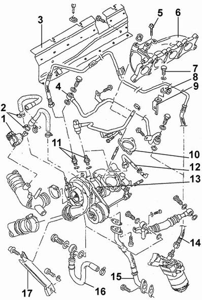 Турбонагнетатель двигателя 1,8 AEB