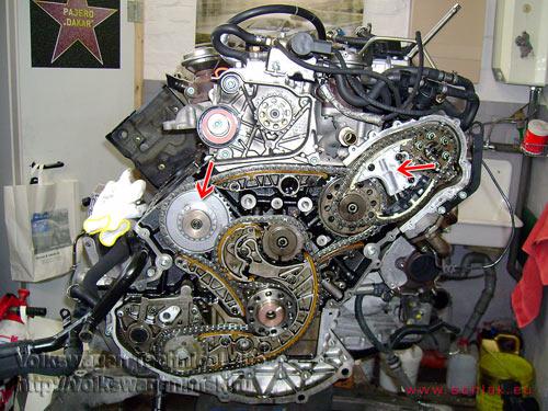После ремонта, двигатель