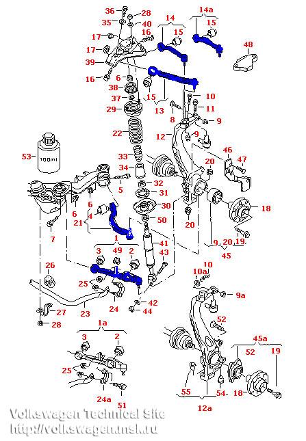 Замена передних рычагов на VW Passat В5