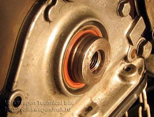 Восстановление торца коленвала на двигателе