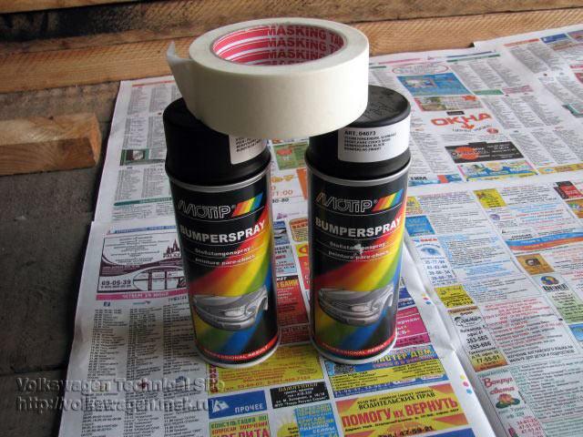 Если покрасить пластиковые бампера