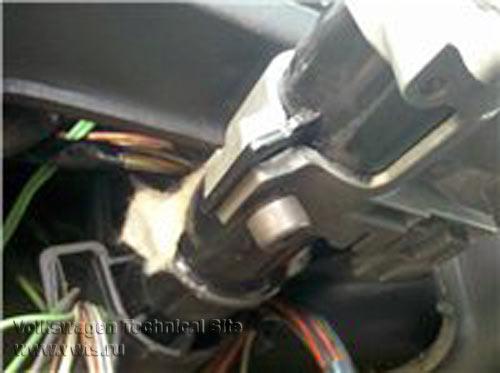 Снятие рулевого вала на VW Passat B3/B4