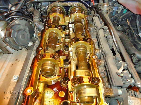 Устранение перескока цепи двигателя AGZ