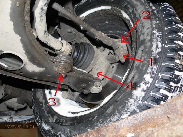 авто. как сделать крепеж переда стабилизатора на vw passat b-2. /audi-80/