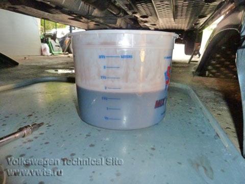 Замена масла в АКПП 09G на VW Jetta