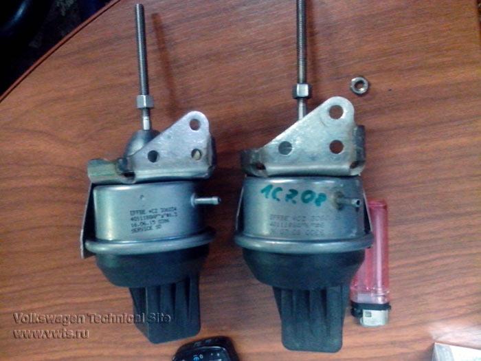 Замена актуатора турбины на двигателе CBBB в Skoda Superb 2