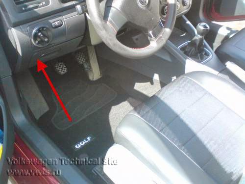 Замена реле клеммы на VW Golf