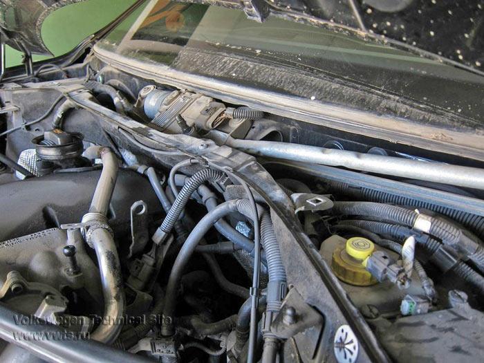 Ремонт передних стеклоочистителей VW Touareg (7L)