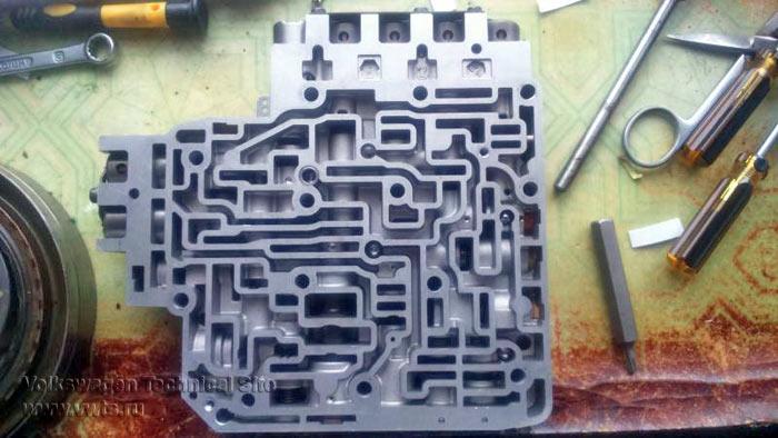 ремонт гидроблока АКПП 01M