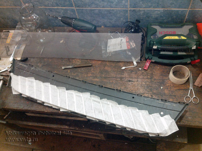 Защита радиатора на Фольксваген Тигуан