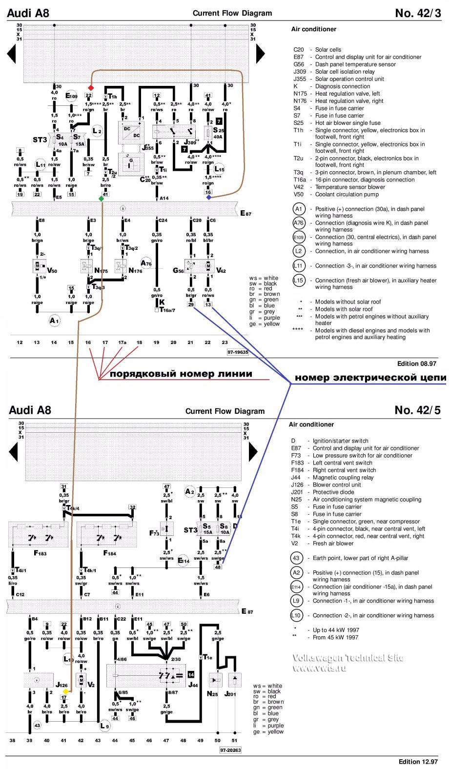Как читать электросхемы VW, Audi, Skoda